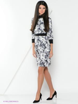 Платье La Fleuriss. Цвет: темно-серый
