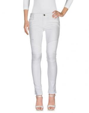 Джинсовые брюки DENNY ROSE. Цвет: белый
