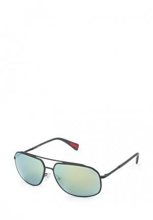 Очки солнцезащитные Prada Linea Rossa. Цвет: серый