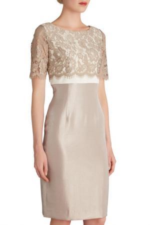 Коктейльное платье Gina Bacconi. Цвет: бежевый