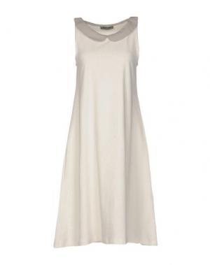 Короткое платье BIONEUMA NATURAL FASHION. Цвет: слоновая кость