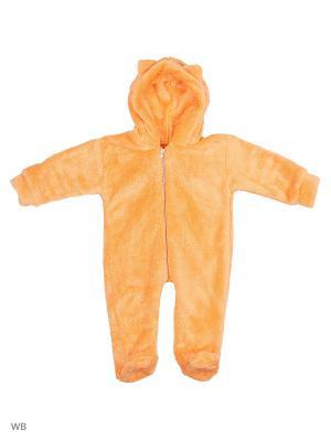 Комбинезон нательный для малыша КВК. Цвет: светло-оранжевый