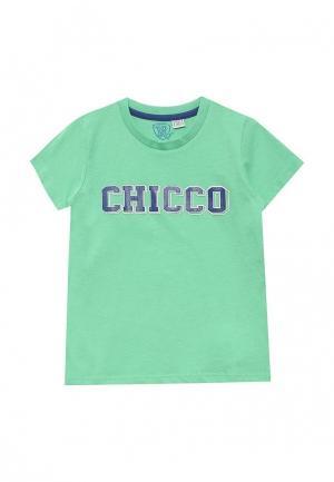 Футболка Chicco. Цвет: зеленый