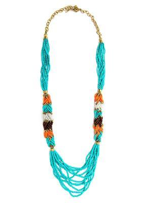 Колье Indira. Цвет: морская волна, голубой