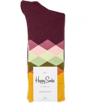 Разноцветные хлопковые носки Happy Socks. Цвет: фиолетовый