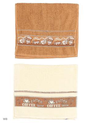 Кухонные полотенц ЛЮКС 2 шт. 40*60/100%хлопок Dorothy's Нome. Цвет: коричневый