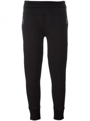 Укороченные спортивные брюки Neil Barrett. Цвет: чёрный