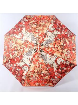 Зонт Zest. Цвет: темно-красный, серый меланж, темно-бежевый