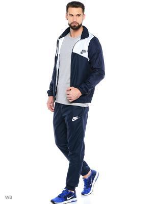 Спортивный костюм M NSW TRK SUIT WVN HALFTIME Nike. Цвет: темно-синий, белый
