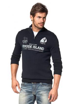 Пуловер Rhode Island. Цвет: темно-синий/белый