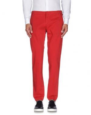 Повседневные брюки ENTRE AMIS. Цвет: красный