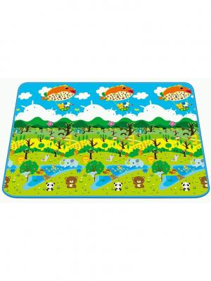 Детский развивающий коврик Лесной парк односторонний 150х180х0,5 Mambobaby. Цвет: голубой
