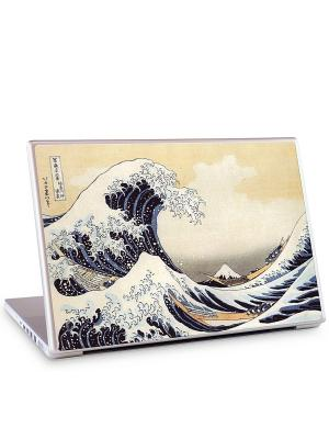 Наклейка для ноутбука 15.4 The Great Wave-Katsushika Hokusai Gelaskins. Цвет: бежевый, синий