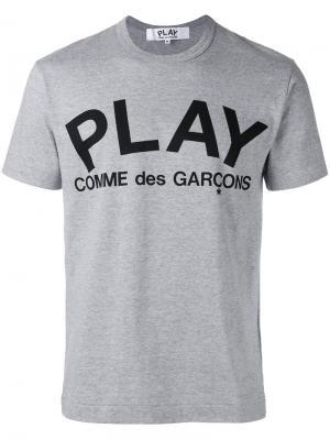 Футболка с логотипом Comme Des Garçons Play. Цвет: серый