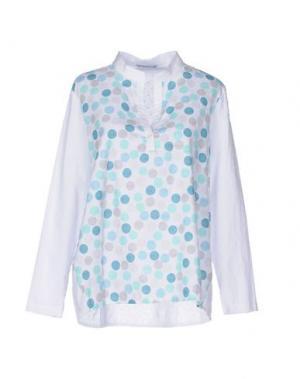 Блузка JEANS & POLO. Цвет: белый
