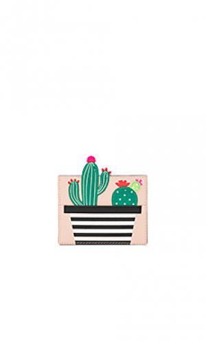 Держатель карт cactus kate spade new york. Цвет: беж