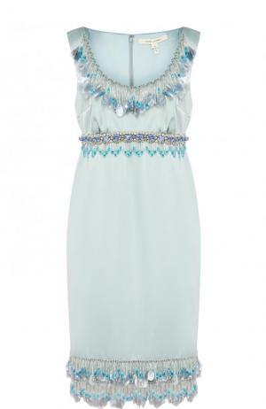 Мини-платье с завышенной талией и декоративной отделкой Marc Jacobs. Цвет: голубой