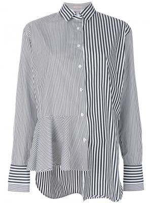 Расклешенная рубашка в полоску MRZ. Цвет: чёрный
