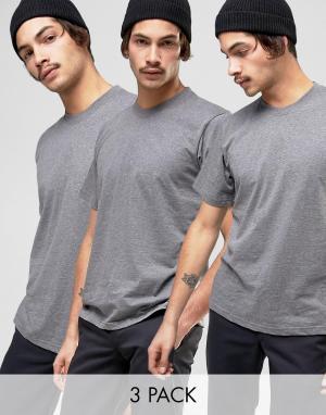 Dickies 3 футболки. Цвет: серый