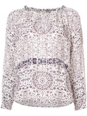 Рубашка с узором Lagence L'agence. Цвет: белый