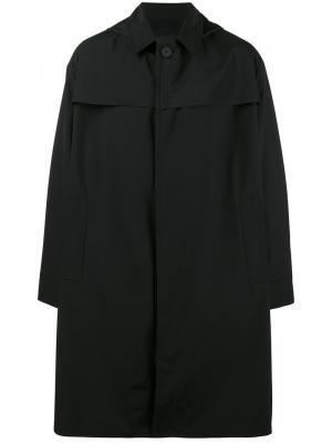Трехслойный макинтош с капюшоном Mackintosh 0001. Цвет: чёрный