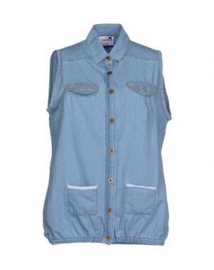 Джинсовая рубашка DOLORES PROMESAS HELL. Цвет: синий