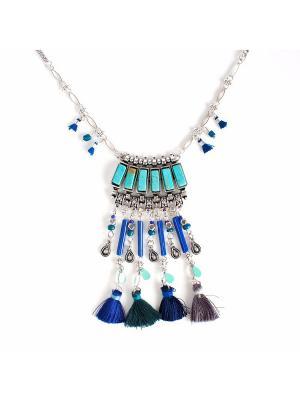 Колье Selena. Цвет: синий, бирюзовый, серебристый