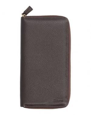 Бумажник GIUDI. Цвет: темно-коричневый