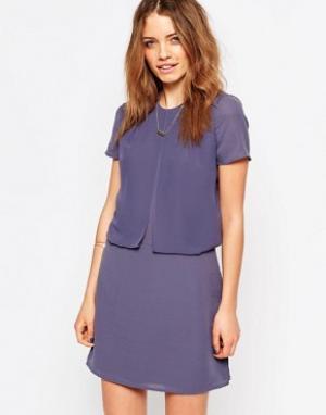Maison Scotch Фиолетовое платье два-в-одном. Цвет: фиолетовый