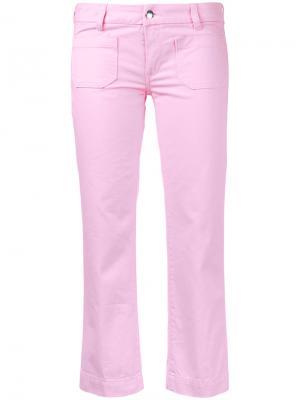 Укороченные джинсы The Seafarer. Цвет: розовый и фиолетовый