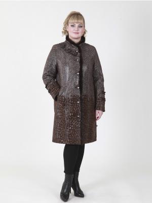 Пальто Хелена VIKO. Цвет: коричневый