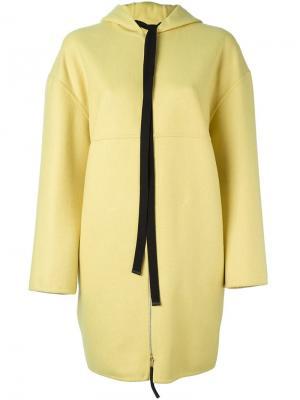 Пальто с капюшоном Marni. Цвет: жёлтый и оранжевый