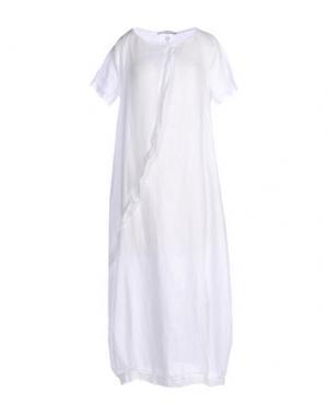 Платье длиной 3/4 LA FABBRICA DEL LINO. Цвет: белый