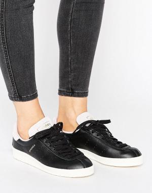 Adidas Черные кожаные кроссовки унисекс с розовой замшевой отделкой Or. Цвет: черный
