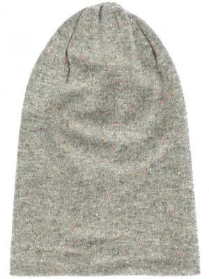 Кашемировая шапка Deadhead Thomas Wylde. Цвет: серый