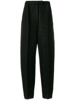 Суженные книзу брюки со складками спереди Boboutic. Цвет: чёрный