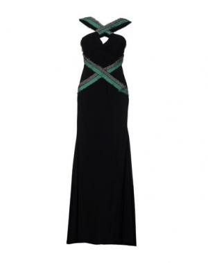 Длинное платье FRANCESCA PICCINI. Цвет: черный