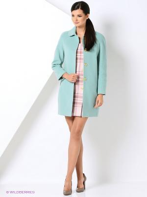 Пальто Gamelia. Цвет: серо-голубой