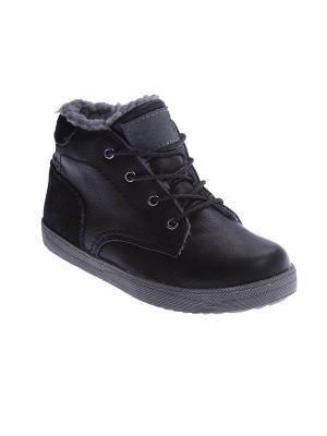 Ботинки S`Cool. Цвет: черный