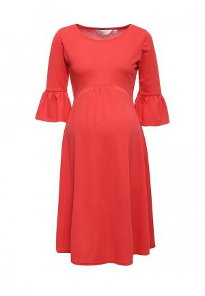 Платье Dorothy Perkins Maternity. Цвет: коралловый