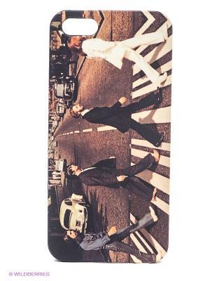 Чехол для IPhone 5 Beatles Mitya Veselkov. Цвет: коричневый, красный