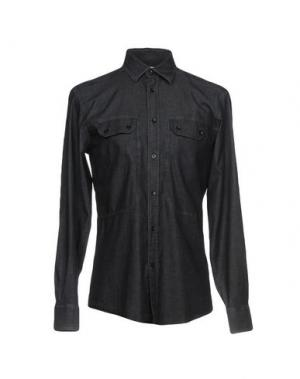 Джинсовая рубашка VERSACE COLLECTION. Цвет: стальной серый