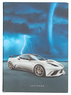 Тетрадь на кольцах 120 листов.Стихия и скорость (авто) Канц-Эксмо. Цвет: синий, белый, серый