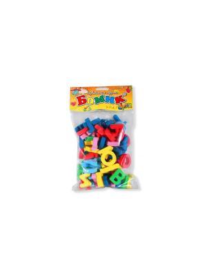 Развивающая игрушка русский алфавит россыпью 63 буквы БОМИК. Цвет: синий, голубой, светло-зеленый