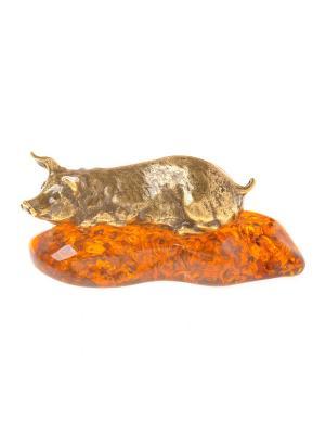 Фигура Свинья Aztek. Цвет: желтый, коричневый, светло-оранжевый