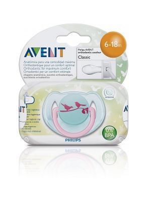 Пустышка для девочек Philips Avent серия FreeFlow SCF172/15, 1 шт., 6-18 мес.. Цвет: голубой, розовый