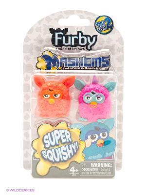 Детская игрушка Фёрби, игрушки-мялки, 2 шт. TECH4KIDS. Цвет: белый, голубой, розовый
