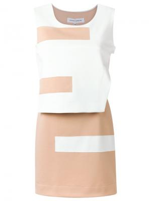 Платье с панельным дизайном Gloria Coelho. Цвет: телесный