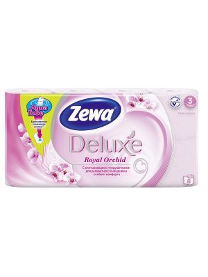 Zewa Бумага туалетная Делюкс 3-ех слойная Орхидея 8шт. Цвет: розовый