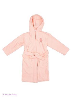 Халат детский махровый Наша Мама. Цвет: розовый